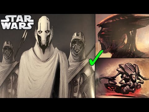 ALL General Grievous Designs George Lucas ALMOST APPROVED! - Star Wars Explained