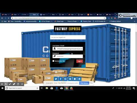 Courier Shipment Delivery Website With Tracking Number, With Email And Sms Alert, Invoice