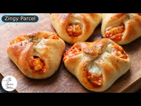 Domino's Style Zingy Parcel Recipe | Paneer & Cheese Zingy Parcel Recipe ~ The Terrace Kitchen