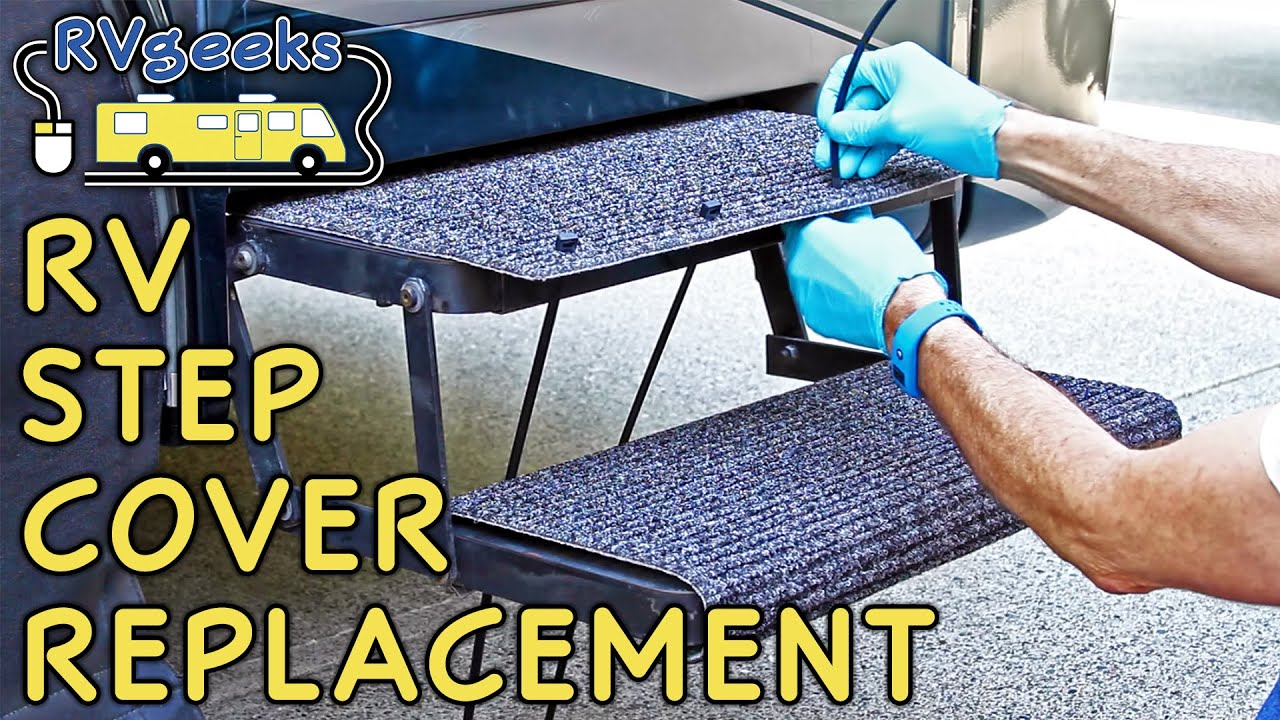 RV Step Cover Rug Replacement - YouTube