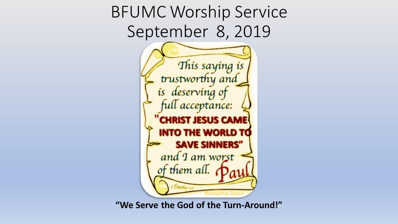 BFUMC Worship Service - September 1, 2019