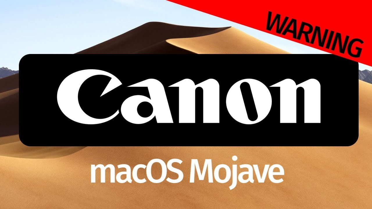 Canon EOS Utility - macOS Mojave 10 14 version of software not available