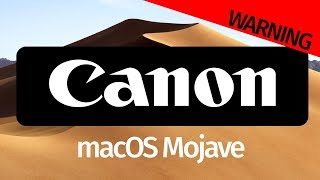 Canon EOS Utility - macOS Mojave 10.14 version of software not available