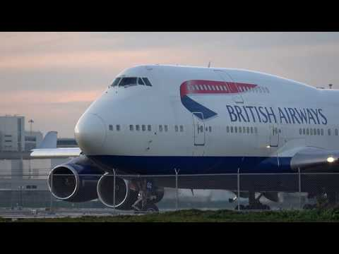 [4K] British Airways BA 284 747-400 Very Rare Takeoff from 1R at SFO Video