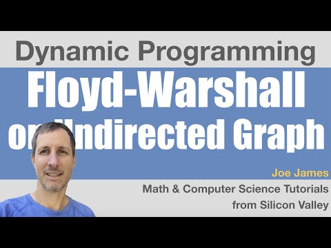 Floyd Warshall Algorithm on Undirected Graph - Dynamic Programming Example