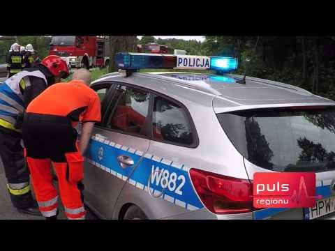 Wypadek koło Radacza. Zderzyły się dwa samochody