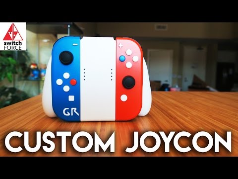 NEW Switch Custom JoyCon and Grip!! (Custom Nintendo Switch)