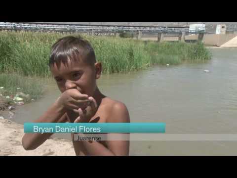 Niños mitigan el calor en el Río Bravo