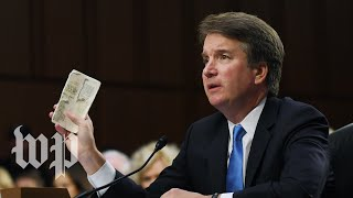Brett Kavanaugh can't stop touching his pocket Constitution