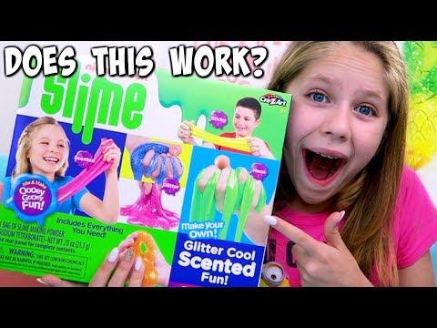 Testing NICKELODEON SLIME DIY Kit from Michaels Shopping! Do the Slime Recipes work?