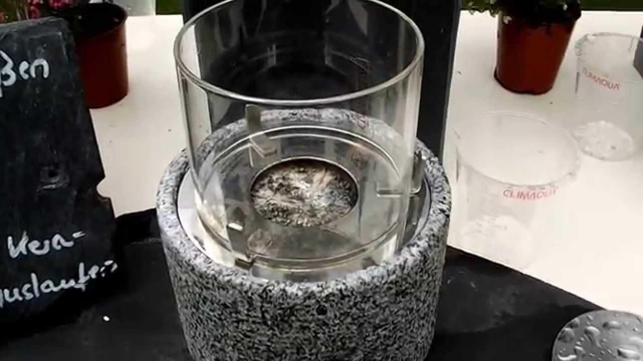 tischfeuer tischkamin leuchte feuerstelle licht flamme bio ethanol innnen aussen youtube. Black Bedroom Furniture Sets. Home Design Ideas