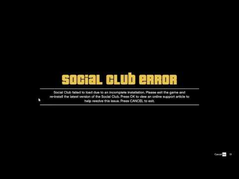 Error Social Club GTA5