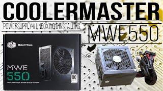 #CoolerMaster #MWE550 #PowerSupply Unboxing & Installing