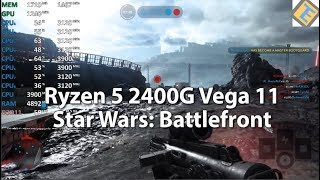 Ryzen 5 2400G Star Wars: Battlefront Multiplayer Gameplay Benchmark Test Stock