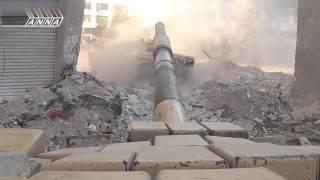 brutal e impresionante batalla con tanques en siria entre ejercito y terroristas