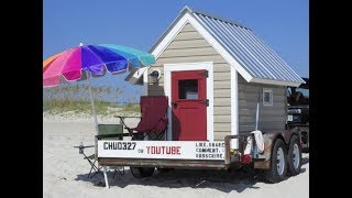 Free Beach Camping in my Little Beach House for the 1st Time!