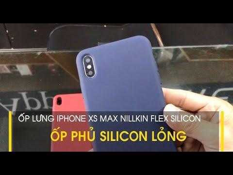 LÊ SANG | Ốp lưng iPhone XS Max Nillkin Flex phủ Silicon lỏng, cầm siêu mềm, siêu êm tay