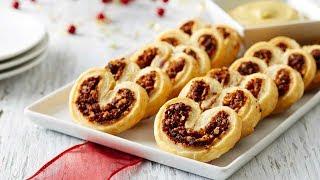 Mincemeat Palmiers -  рождественский рецепт Гордона Рамзи (печенье с начинкой из сухофруктов).
