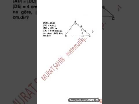 Kenarortay Teoremi Ve Uygulamaları 3