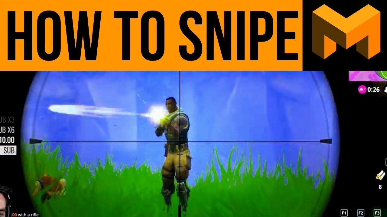 Fortnite: Battle Royale - Sniper Tips, Tricks and Strategy Advice