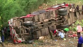 Kenyan bus crash claims 50 lives, scores injured.