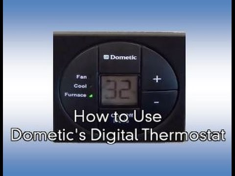 how to use dometic 39 s digital rv thermostat youtube. Black Bedroom Furniture Sets. Home Design Ideas