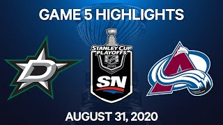 NHL Highlights | 2nd Round, Game 5: Stars Vs. Avalanche - Aug 31, 2020