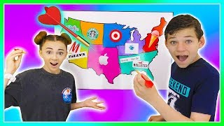 Throwing a Dart at a Map & Buying Whatever it Lands On! | We Are The Davises