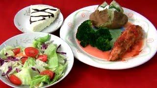 Salsa Chicken,Salad & Cheesecake - Romantic Dinner #1