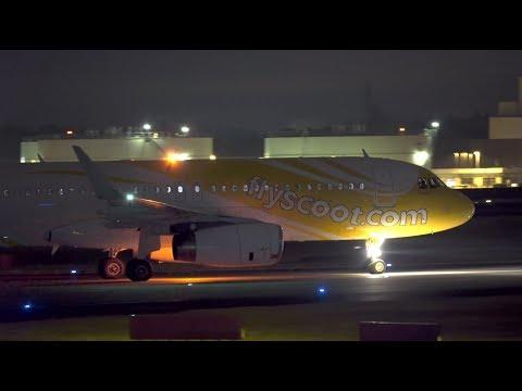 Scoot Airbus A320-200 9V-TRL Landing At NRT 34R