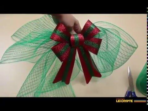 10 Boucles de Noël Arbre De Noël Boucles Rouge Déco Noël
