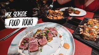 Cruise Ship FOOD TOUR!! - What the Food Is like on Board the MSC SEASIDE! (MSC Cruise Day 3)