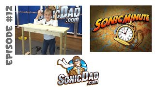Make A Cool Art Table For Under $12. Sonic Minute Episode 12