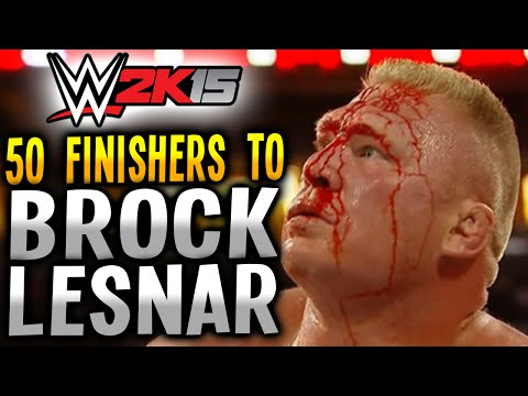 WWE 2K15 - 50 FINISHERS TO BROCK LESNAR! (PS4)