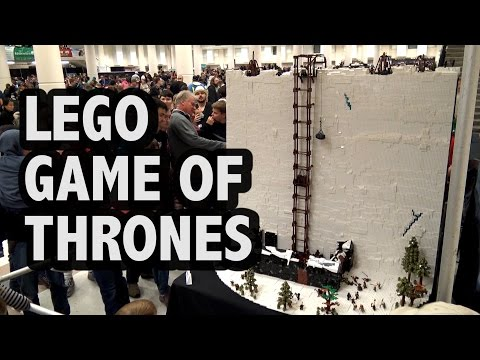 Massive LEGO Game of Thrones Wall / Castle Black