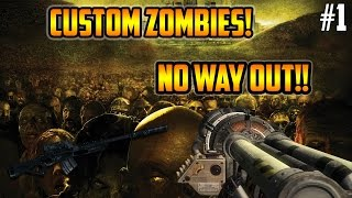 "WAW Custom Zombies ""No Way Out"" w/Firststrikeable + Sneak Peak of My Map Tomorrow!"