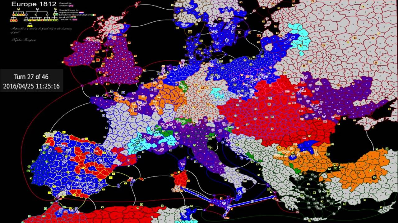 Europe Map Risk Game Won (Blue color) - YouTube