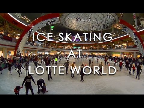 Ice Skating at Lotte World (롯데월드에서 스케이트 타기) - 🇰🇷 TRAVEL KOREA