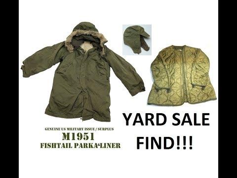 Yard Sale Haul (Military Gear) FREE STUFF!! M-1951 Parka Korean War WW2