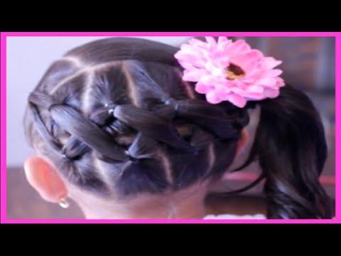 Coleta Entrelazada Al Lado Peinado Facil Con Ligas Para