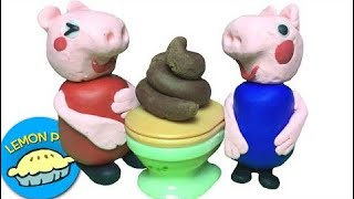 Peppa Pig Potty Training Poo and Pee Play-Doh Stop-Motion