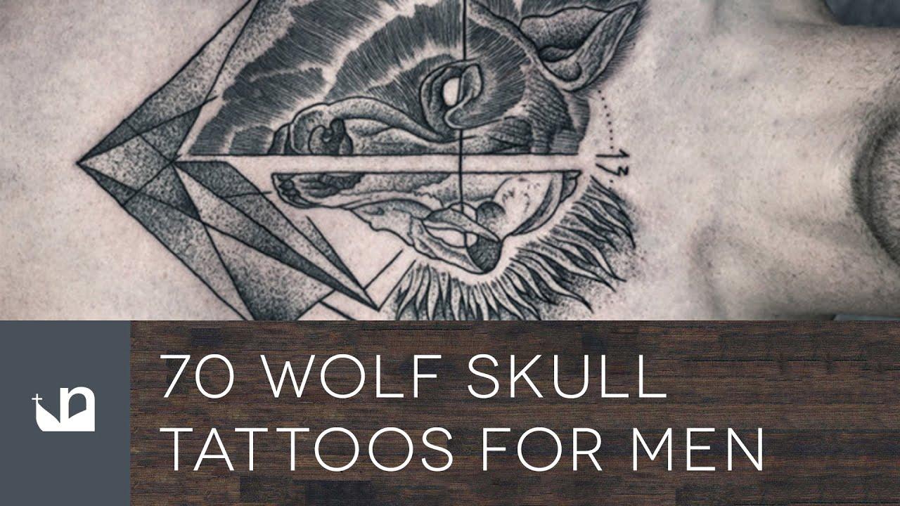 70 Wolf Skull Tattoos For Men