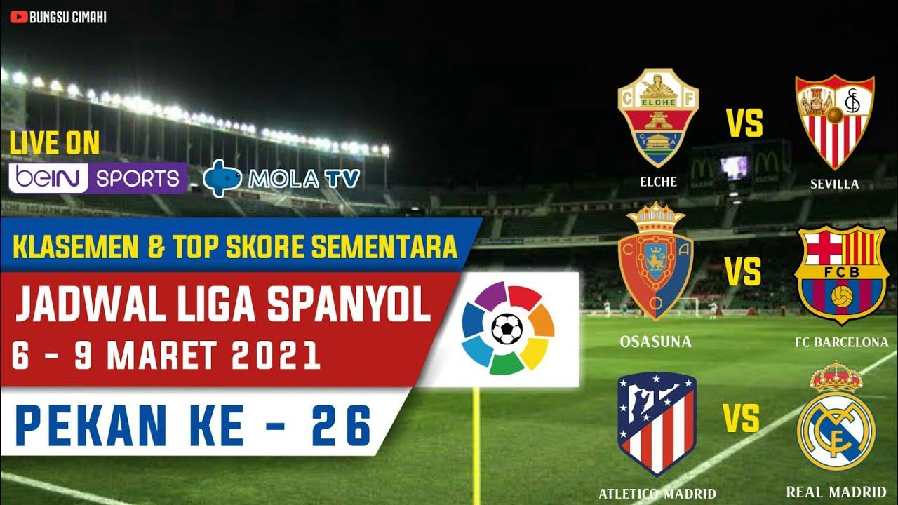 Jadwal Liga Spanyol Malam Ini Pekan Ke 26 ~ Atletico Madrid vs Real Madrid   Laliga Santander