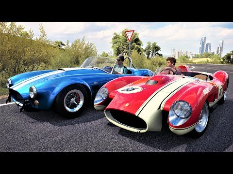 Racha Clássico de Shelby Cobra VS Ferrari Testa Rossa - Forza Horizon 3