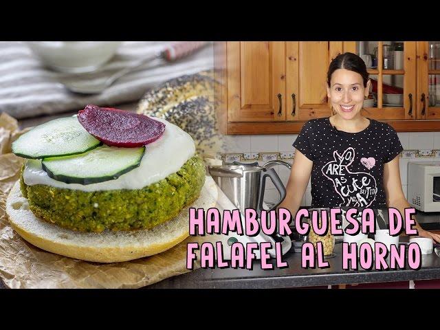 HAMBURGUESA DE FALAFEL AL HORNO | Delantal de Alces