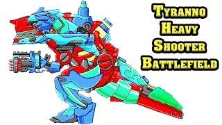 Dino Robot Tyranno Heavy Shooter: Assembly + Battlefield | Eftsei Gaming