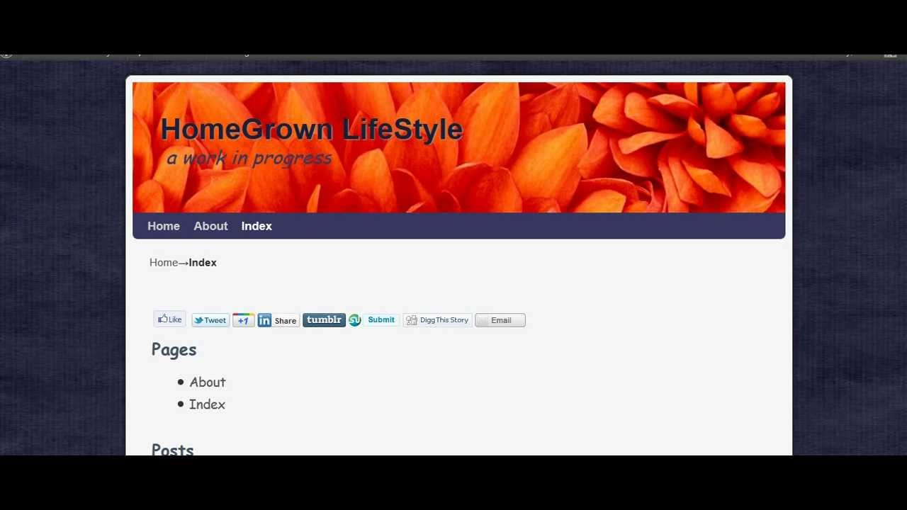 Weaver II Page Templates: Index, iframe - YouTube