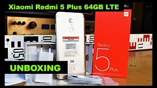 Xiaomi Redmi 5 Plus 64GB LTE Gold Smartphone Unboxing