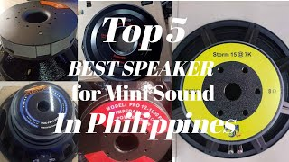 TOP 5 BEST SPEAKER FOR MINISOUND SYSTEM PH 2020 - LIVE TSUNAMI, XLINE BAKHOE