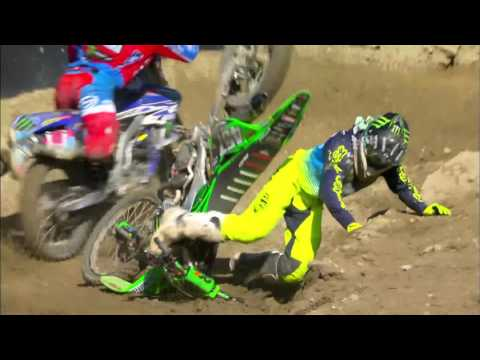 Darian Sanayei & Benoit Paturel crash MXGP of USA Race 2 – motocross video 2016